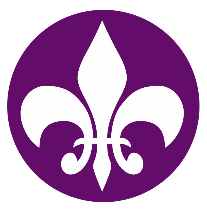 Fund logo purple fleur only