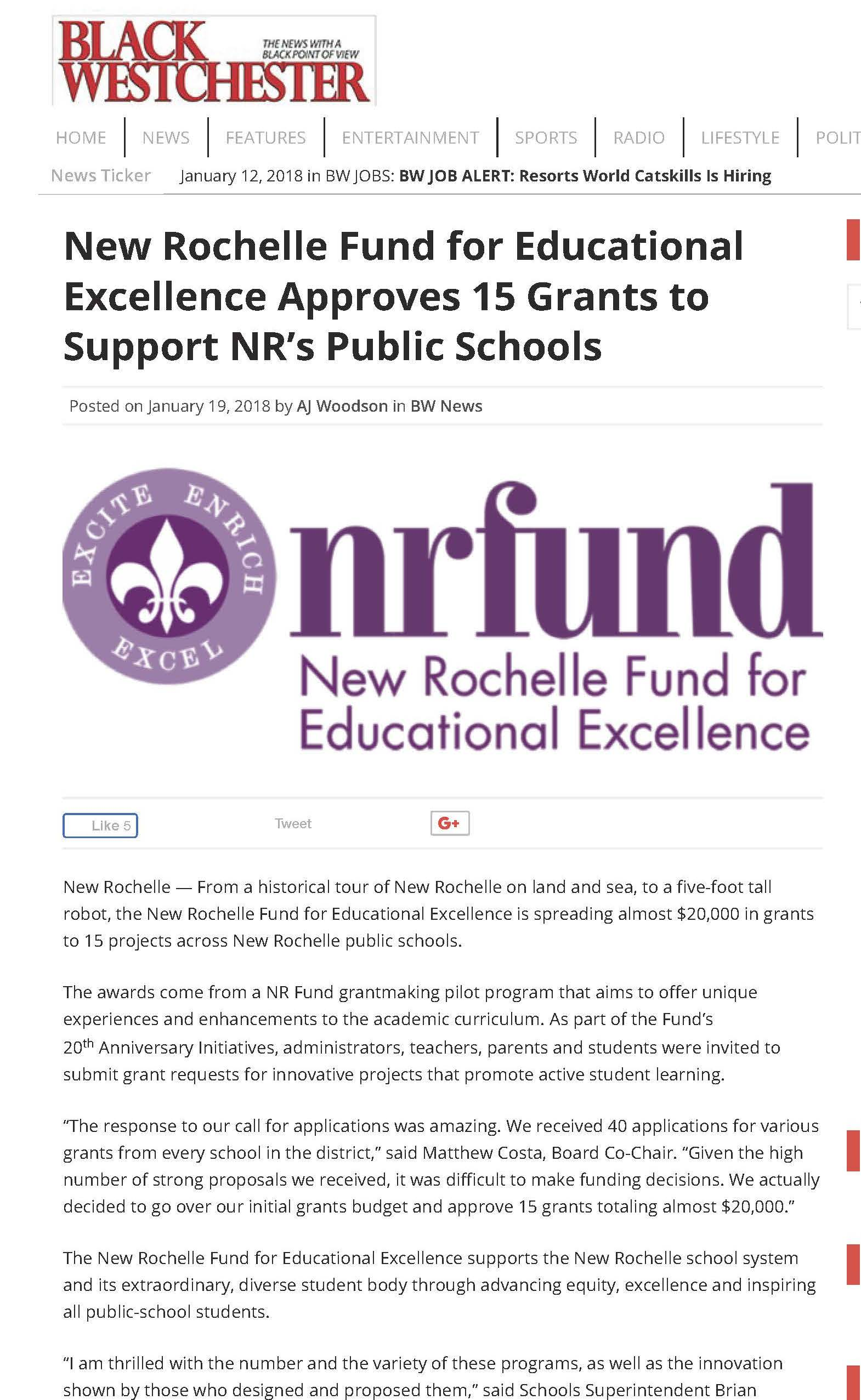 New Rochelle Fund for Educational Excellence Approves 15 Grants to Support NR's Public Schools _ Black Westchester Magazine_Page_1