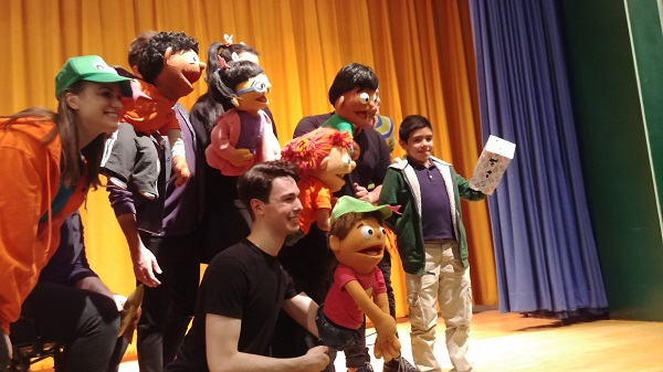 """Addy & Uno"" - the first family musical about disability, told through puppets and music - was presented to 1,400 district students."