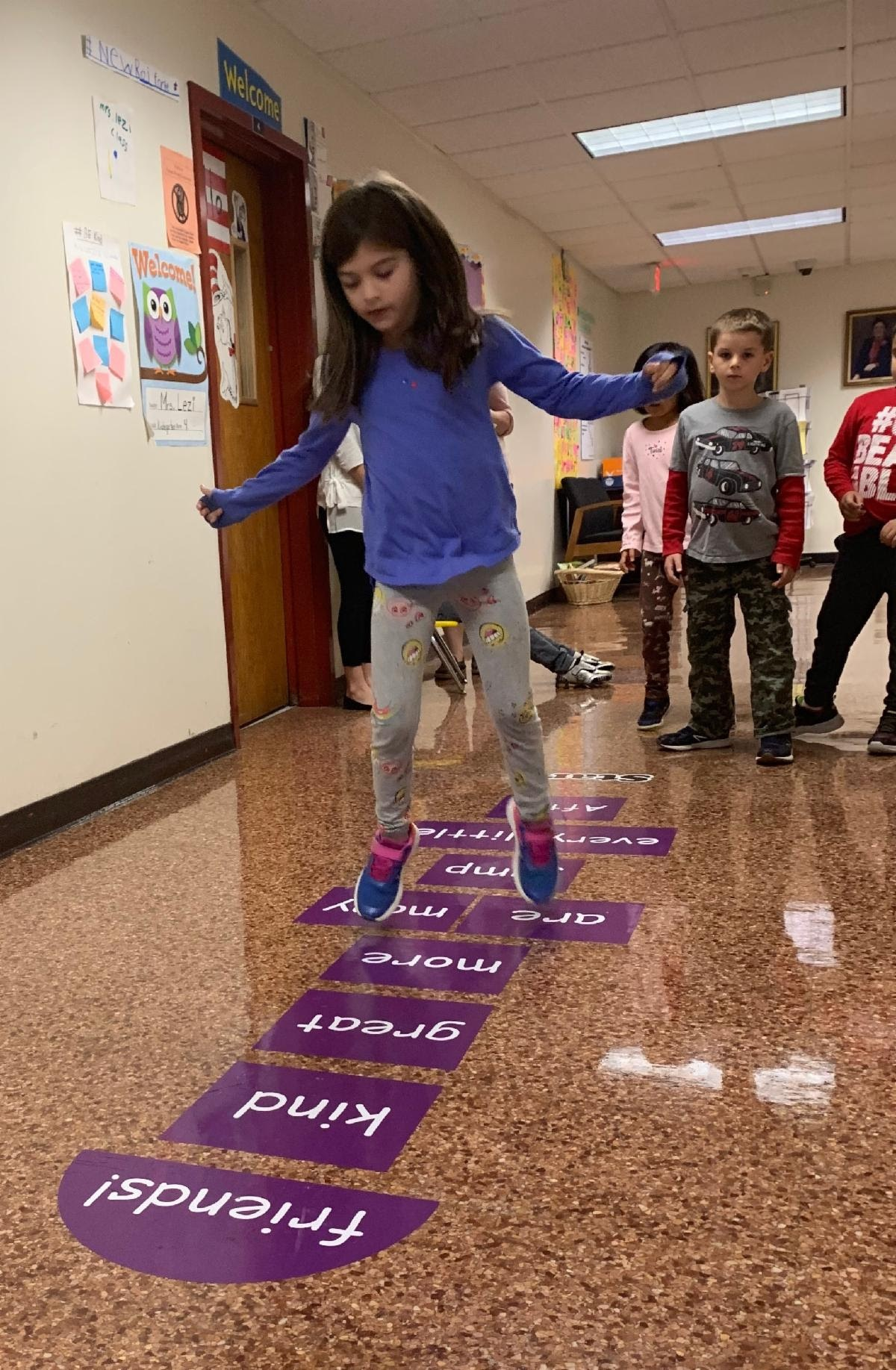 Sensory hallway activities at Ward Elementary
